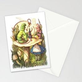 Alice & The Hookah Smoking Caterpillar - Alice In Wonderland Stationery Cards