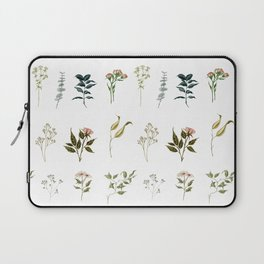 Delicate Floral Pieces Laptop Sleeve
