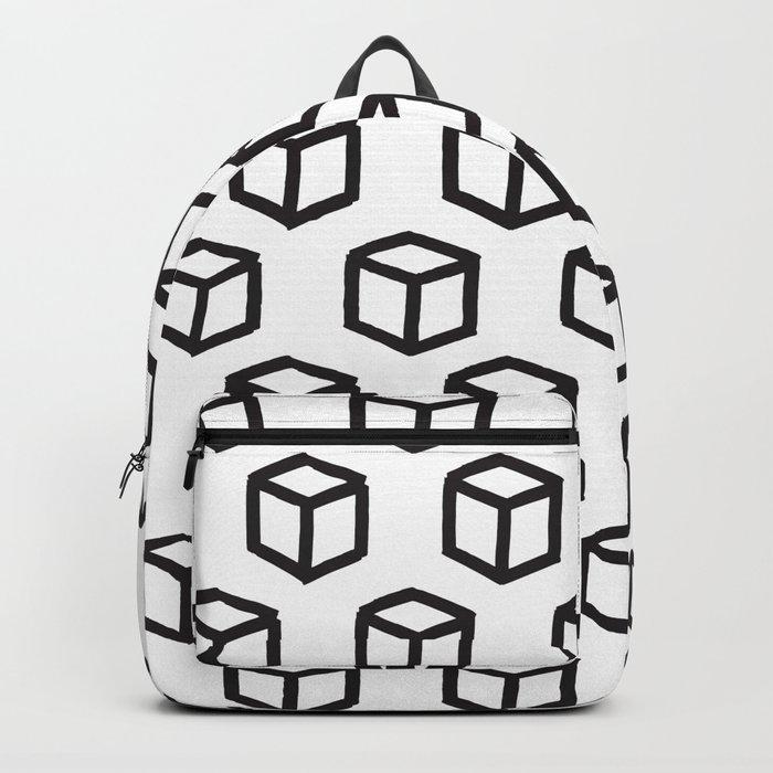Geometric minimalist pattern Backpack