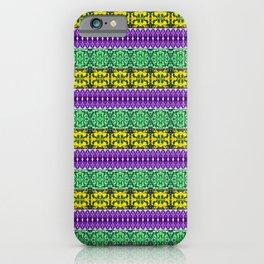Regal Mardi Gras Stripes iPhone Case