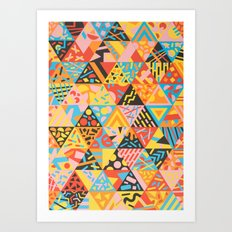 Cutting Shapes Art Print