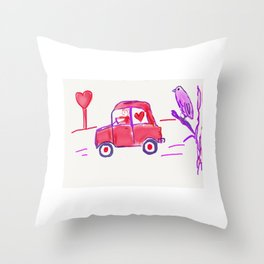 Valentine Delivery Throw Pillow
