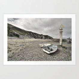 Boats at Bude  Art Print