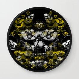 Gold and silver skulls Wall Clock