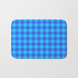 Dark Blue Cubes - Geometric Work Bath Mat