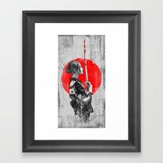 Samurai Girl Framed Art Print