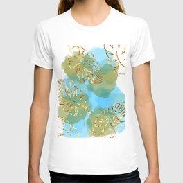 leaf & water scene T-shirt