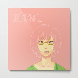 Good Morning [Pinky] Metal Print