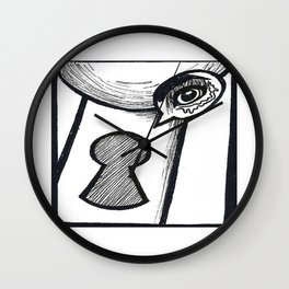 Lock and Peek Wall Clock