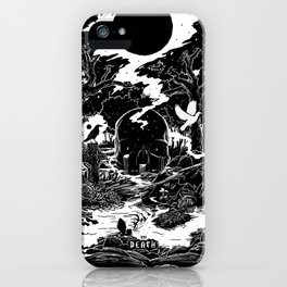XIII - Death Card (Shadow Light Tarot) iPhone Case