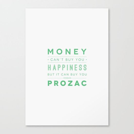 Prozac Nation Canvas Print