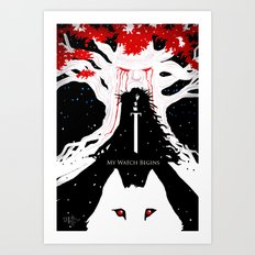 My Watch Begins  Art Print