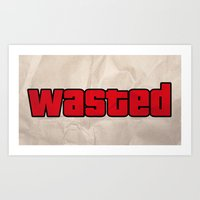 wasted rita Art Prints featuring Wasted by TxzDesign