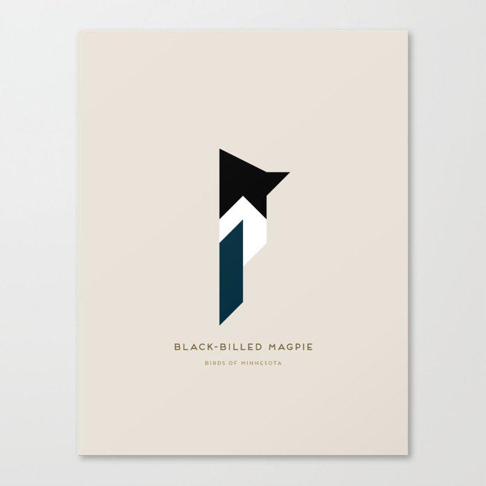 Black-Billed Magpie Canvas Print
