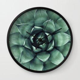 Macro Succulent Wall Clock