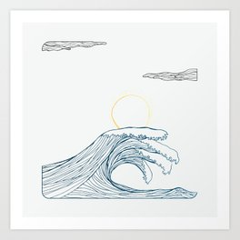 ring of the waves Art Print