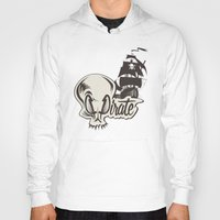 pirate Hoodies featuring Pirate by Tony Vazquez