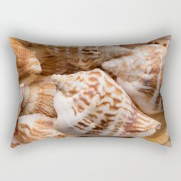Seashells collection background Rectangular Pillow