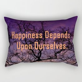 happiness depends upon ourselves Rectangular Pillow