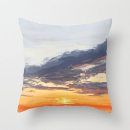 Sunset on the St George River 3 Throw Pillow