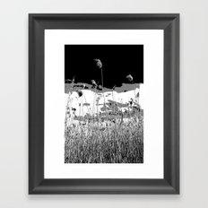 Windswept reeds Framed Art Print