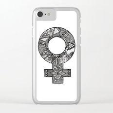 Feminist symbol Clear iPhone Case