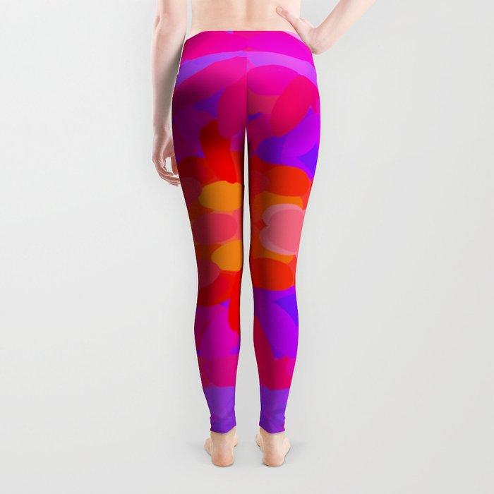 Purple, pink and orange tie dye Leggings