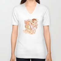 party V-neck T-shirts featuring party by Ben Bauchau