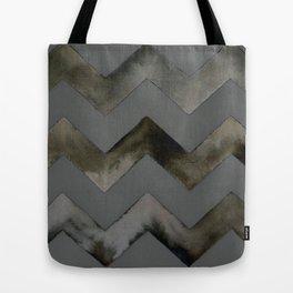 Chevrons — Gray and Gold Tote Bag