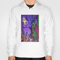 grafitti Hoodies featuring New York Collage by Bakmann Art