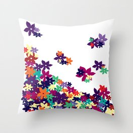 Flowered Up Throw Pillow