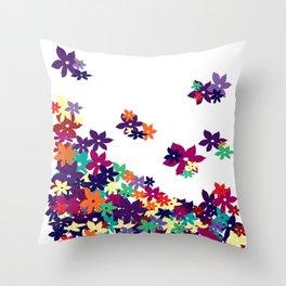 Flowered Up Throw Pillow
