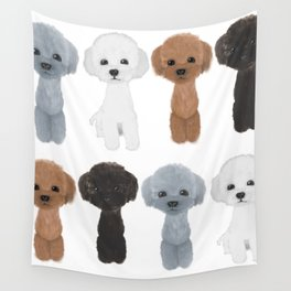 poodle allcolor Wall Tapestry