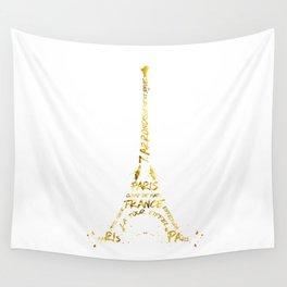 Digital-Art Eiffel Tower | golden Wall Tapestry