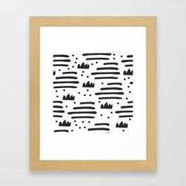 Abstract scandinavian art Framed Art Print