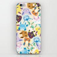eevee iPhone & iPod Skins featuring Eevee Evolutions by RAVEFIRELL