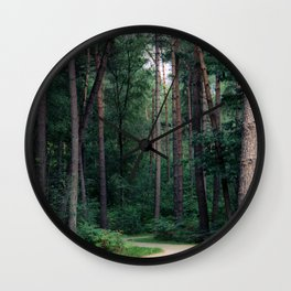 Green jungle vibes in the Netherlands   Forest photography   Fine art landscape photo print Wall Clock