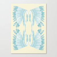 headdress Canvas Prints featuring Headdress by Deleted
