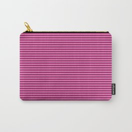 Pink stripes pattern Carry-All Pouch