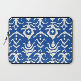 Blue Ikat Damask Print Laptop Sleeve