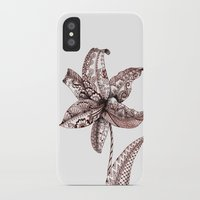 henna iPhone & iPod Cases featuring Henna Lily by Elisa Camera