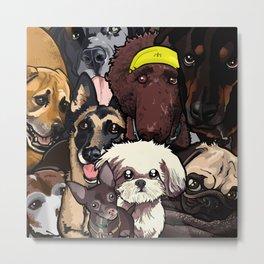 Dogs. Metal Print