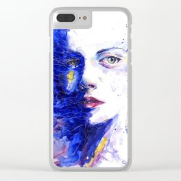 Colourful painting of women Clear iPhone Case