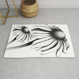 Double Cone Flower Rug