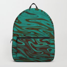 Ripples Fractal in Teals Backpack