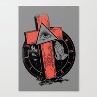 religion Canvas Prints featuring Religion by Tshirt-Factory