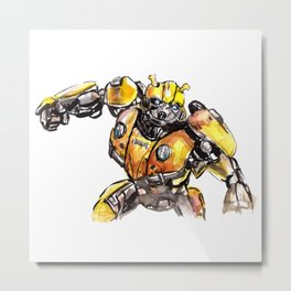 Robot Humble-Bee Metal Print