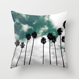 Palms in the sky Throw Pillow
