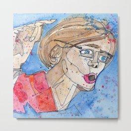 Senator Elizabeth Warren Metal Print