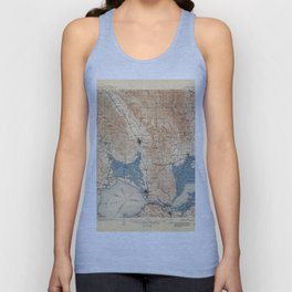 Map of Napa Valley 1902 Unisex Tank Top